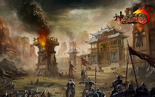 《神道三国》场景原画